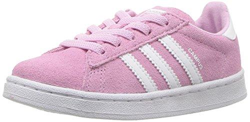adidas Originals Girls' Campus EL I Sneaker, Frost Pink Whit