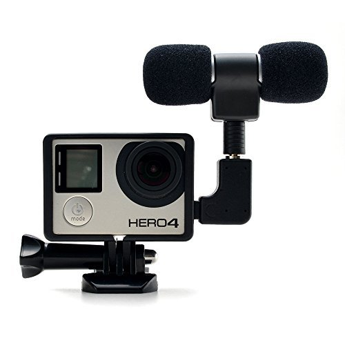 Microphone for Gopro 4 3 plus - 3.5mm mini Mic microphone Adapter accessories with Frame Case Cover for Gopro hero 3 3+ 4 and Digital Cameras