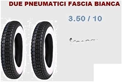 Kit 2/gomas para Vespa PX banda blanca 3.50.10/Vintage