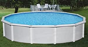 """Samoan 30' Round 52"""" Steel Above Ground Swimming Pool With 8"""" Toprail"""