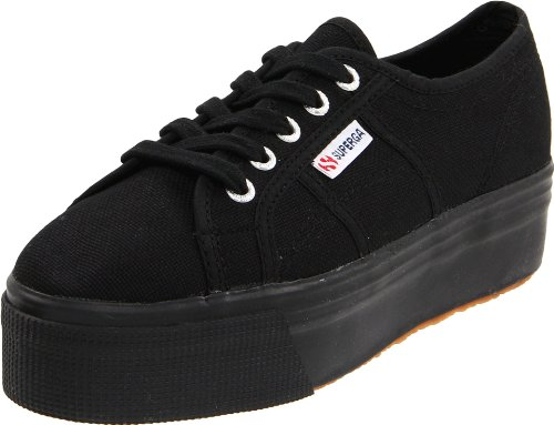 Superga Women's 2790 Platform, Full Black, 41 EU/9.5 US