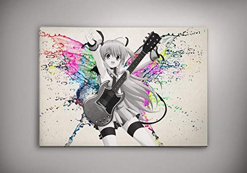 Angel Beats Design Poster, Angel Beats Watercolor Poster, Angel Beats Wall Print, Kanade Tachibana Room Interior, Kanade Angels Beats Artwork, Kanade Angels Beats Wall