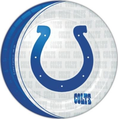 "UPC 763795931576, Indianapolis Colts NFL Paper 9"" Plates - 8 Pack"