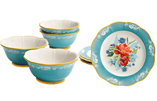 The Pioneer Woman Spring Bouquet 6.75-Inch Bowl Set of 4 & 8.9-Inch Salad Plates Set of 4
