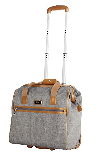 Nicole Miller New York Montana Collection Wheeled Cabin Tote (Charcoal)