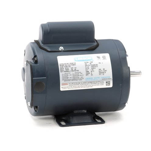 Leeson Electric 100361.00 - General Purpose Motor - 1 ph, 1/4 hp, 1800 rpm, 115/208-230 V, 48 Frame, Totally Enclosed Non Ventilated Enclosure, 60 Hz, Rigid base Mount ()