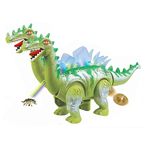 Gbell New Brachiosaurus Dinosaur Lay Eggs Toys - Battery Operated Double Head Dino Toy with Projection Function Educational Dinosaur Toys Gifts for Boys Girls Kids 3-12 Years Olds -