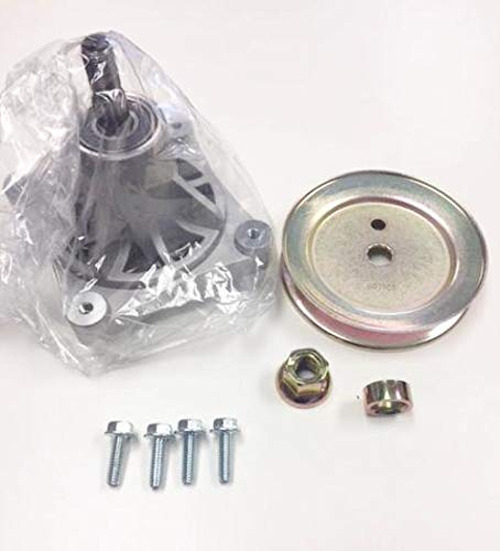 Pulley Spindle - Hustler Raptor Spindle and Pulley Kit 604214, 603988, 604172, 036236. Fits Most 42