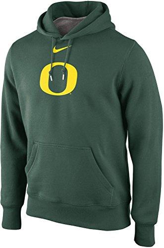 Nike Oregon Ducks Men's College Classic Logo Fleece Pullover Hoodie (2XL, Green)
