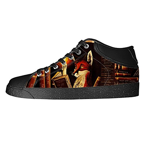 Dalliy Fox Mens Canvas shoes Schuhe Lace-up High-top Sneakers Segeltuchschuhe Leinwand-Schuh-Turnschuhe C