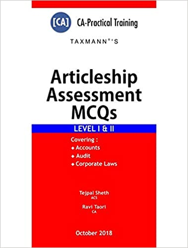 Taxmann Articleship Assessment MCQs (Level I & II) (CA-Practical Training)