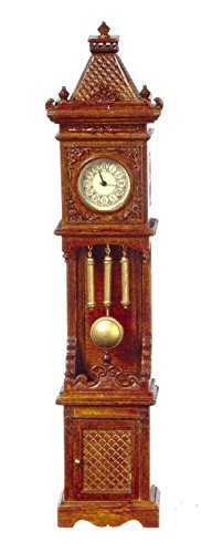 Melody Jane Dollhouse Working Walnut Gothic Victorian Grandfather Clock JBM Miniatures by Melody