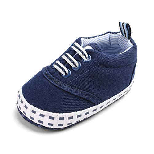 d11f860987ee8e Galleon - BENHERO Baby Boys Girls Canvas Toddler Sneaker Anti-Slip First  Walkers Candy Shoes 0-24 Months 12 Colors (11cm(0-6months)
