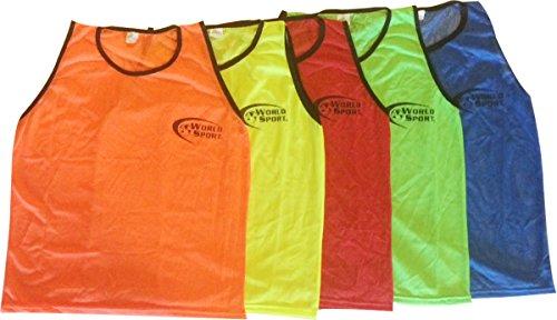 World Sport Adult Red Scrimmage Vests (6 - Soccer Training World