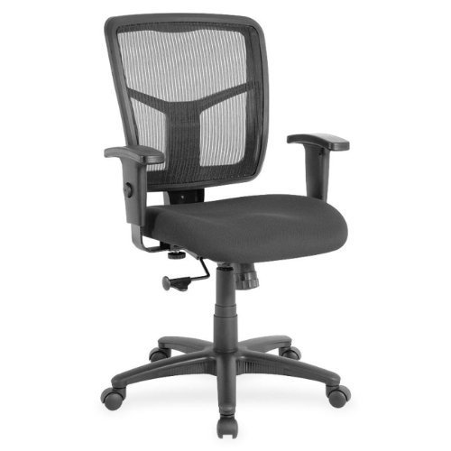 Lorell LLR86209 Managerial Mesh Mid-Back Chair, 2.6