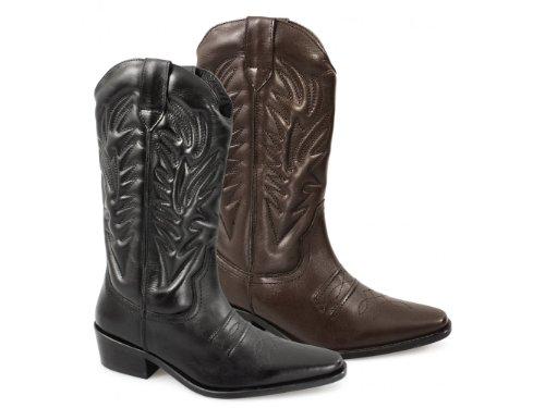 Gringos - Botas de cowboy para hombre negro - negro