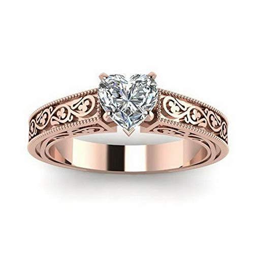 - Tomikko 18K Rose Gold Fil Pink Sapphire Woman Wedding Party Ring Gift Size 6-10 | Model RNG - 13808 | 9