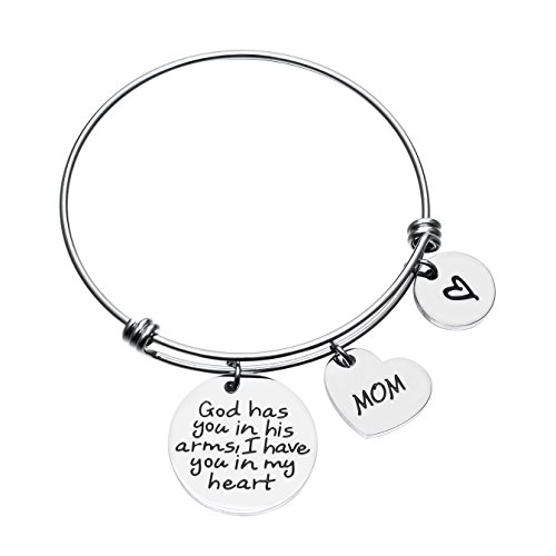 Mom Memorial Bracelet Mother Memorial Jewelry in Memorial of Mother Bracelet Loss of Mom Bracelet Sympathy Gift ... (Best God Moms)