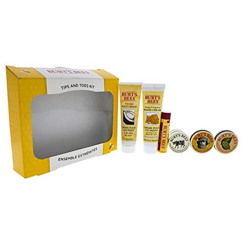 Cuticle Salve Lemon (Burt's Bees Tips and Toes Kit Holiday Gift Set, 6 Travel Size Products in Gift Box - 2 Hand Creams, Foot Cream, Cuticle Cream, Hand Salve and Lip Balm)