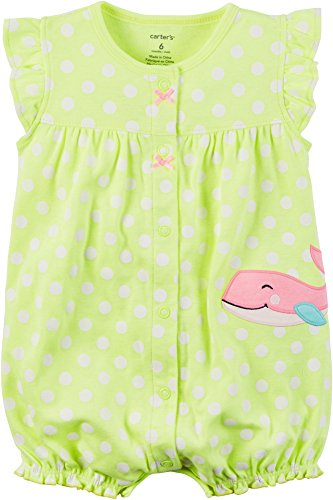 Carters Girls Snap Up Romper Whale