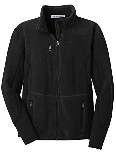 Port Authority Women's R Tek Pro Fleece Full Zip Jacket L Black/Black