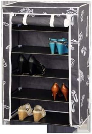 Kit Closet Zapatero Tela, 5 baldas