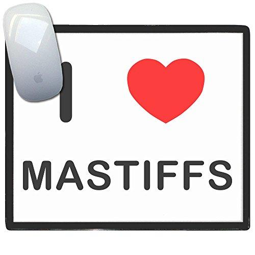 Mastiff Ornaments - I Love Heart Mastiffs - Plastic Mouse Mat