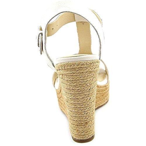 Marc Fisher Harlei Women US 10 White Wedge Sandal rpEhUMt