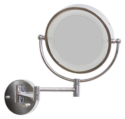 s AI-557 8.5-in. W Round LED Mirror With Light Dimmer And Dual 1x/5x Zoom (Power Zoom Mirror)