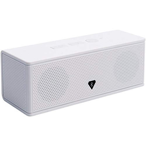 AUDIOSOURCE MD213W Portable Bluetooth(R) Stereo Speaker & Speakerphone (White)