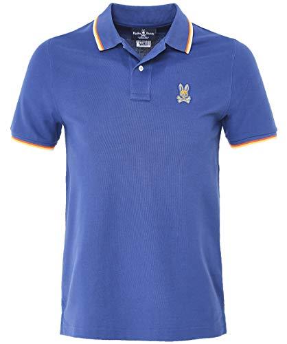 Pique Bunnies - Psycho Bunny Men's Pique Pima Cotton St. Lucia Polo Shirt Blue XXL