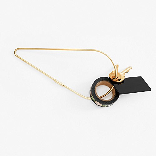 (Areaware Contour Key Ring (Petal, Brass))