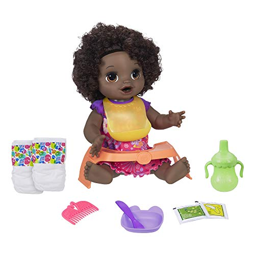 Baby Alive Happy Hungry Baby Black Curly Hair Doll, for sale  Delivered anywhere in USA