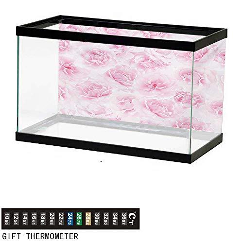 wwwhsl Aquarium Background,Rose,Plenty of Roses Passion Sentiment Concept Affection Emotions Admiration Artistic Work,Soft Pink Fish Tank Backdrop 48