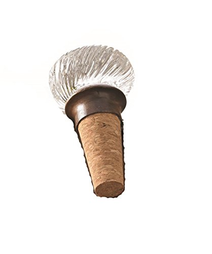 Mud Pie Door Knob Bottle Lines Topper Accessories, Brown