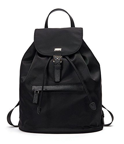 EMINI HOUSE Women's Nylon Backpack Drwastring school Multifunction Backpack-Black by EMINI HOUSE