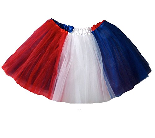 [Southern Wrag Company Adult July 4th AMERICAN FLAG Tutu Waist 25-50 Length 16] (Usa Flag Dress Teen Costumes)