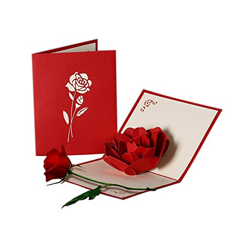 HUNGER-Handmade-3D-Pop-Up-Rose-Flower-Birthday-Cards-Creative-Greeting-Cards-Papercraft