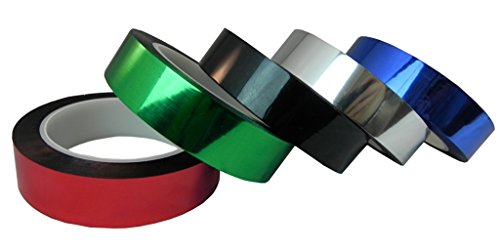 WOD MMYP-1 Black Metalized Polyester Mylar Film Tape with Acrylic Adhesive (Available in Multiple Colors & Sizes): 1 in. x 72 yds. Excellent Chemical and Thermal Stability. by WOD Tape