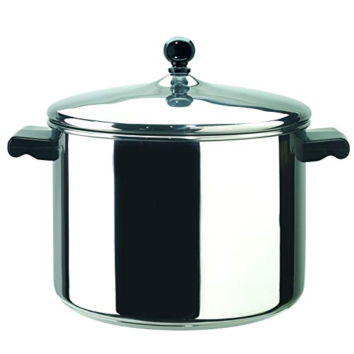 Farberware Classic Stainless Steel 6-Quart Covered Stockpot, Silver - 50005