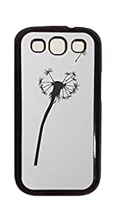 Customized Dual-Protective case for galaxy s3 - Dandelion Black mural