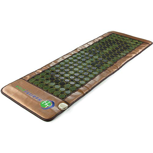 HealthyLine Heating Pad with Far Infrared Heat - Hot Stones Jade Tourmaline - Negative Ions - Mesh JT Mat Full 7224 Soft InfraMat Pro® (Best Infrared Sauna Consumer Reports)
