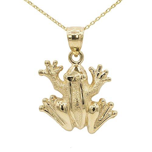 Yellow Gold Frog Pendant - 10k Yellow Gold Frog Pendant (No Chain)