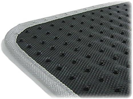 Tenzo R 16062 Auto Gummi Fußmatten Universal Alu Riffelblech Optik Chrom Carbon Auto