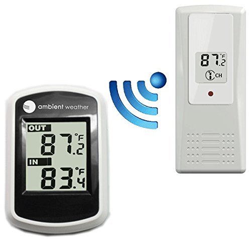 Ambient Weather WS-40 Wireless Thermometer with Indoor and Outdoor Temperature ()
