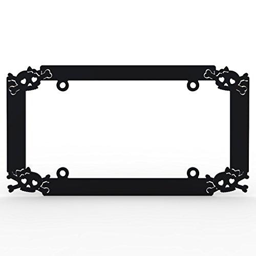 girly skull license plate frame - 1