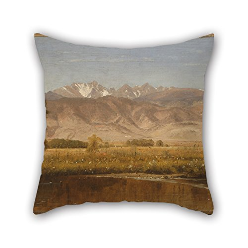 Loveloveu Oil Painting Worthington Whittredge - Foothills Colorado Throw Cushion Covers 20 X 20 Inches / 50 By 50 Cm For Pub,club,bench,dinning Room,outdoor,kids Boys With Double (Dollar Tree Colorado Springs)