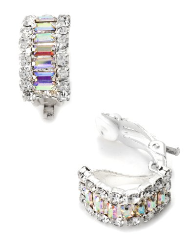 silver-crystal-rhinestone-semi-circle-clip-earrings-with-baguette-aurora-borealis-rhinestones