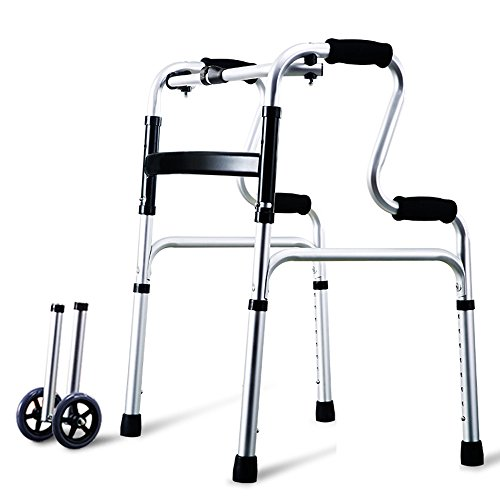 ZXQQQ Walker for Seniors with Seat Folding Slides Rolling Ultra Walkers with Wheels and Hand Grip Lightweight for Man and Woman