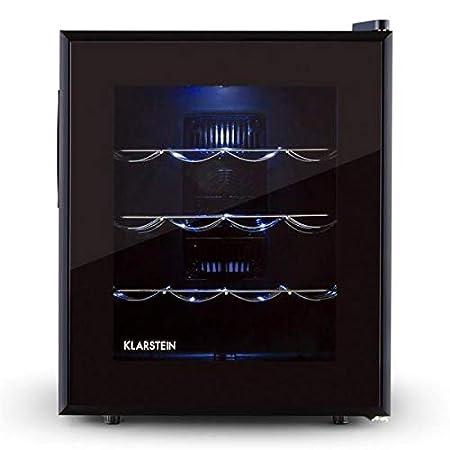 Klarstein Barolo • Cave à vin • Volume de 48 litres • 16 bouteilles • Porte en verre doublement isolée • Trois tiroirs métalliques • Éclairage intérieur LED • 11 à 18 °C &bull
